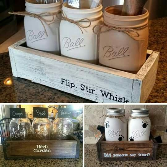 Kitchen Jar Decoration Pinkaleigh Birdsell On Decor  Pinterest  Jar Crafty And Bottle
