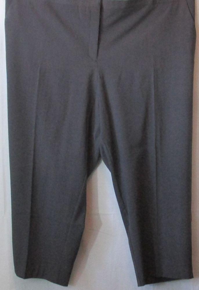 Just My Size Plus Size Charcoal Dress Pants Size 30 Justmysize