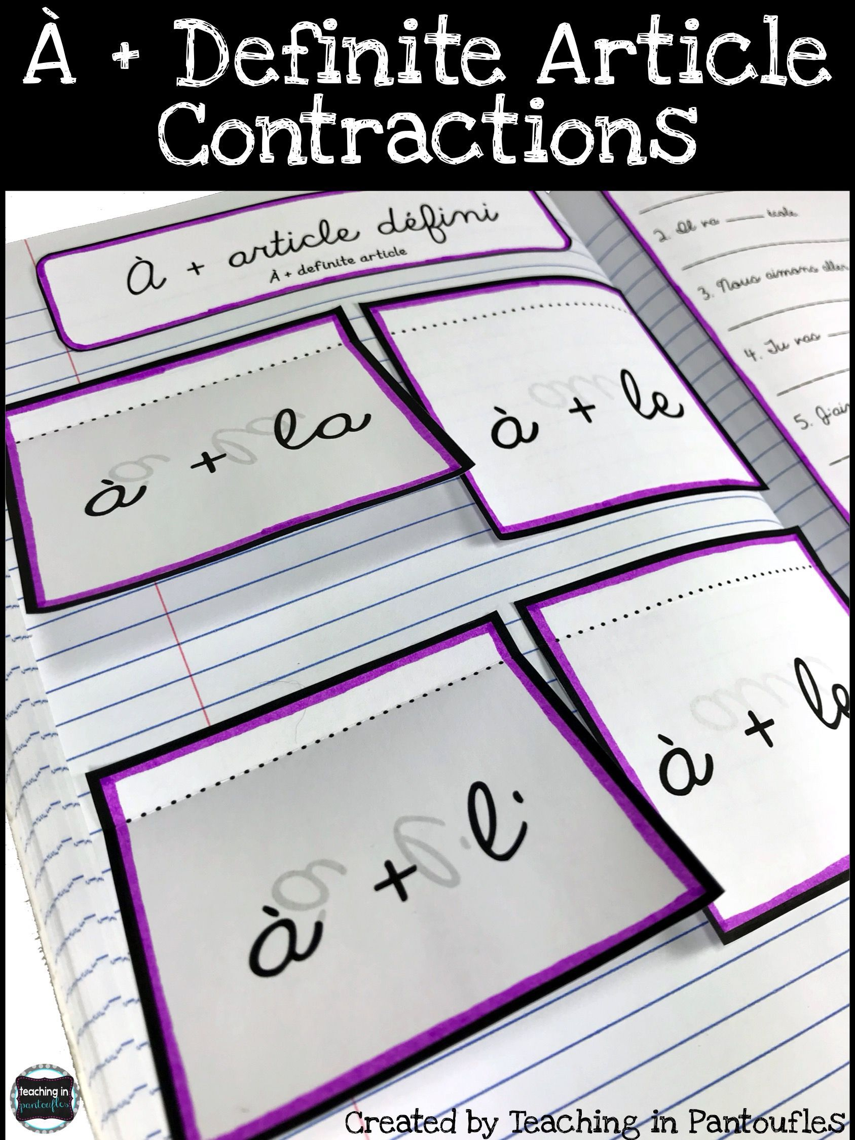 Help Your Middle And High School French Students Use The A And Definite Arti French Interactive Notebooks Interactive Notebooks Interactive Notebook Activities [ 2249 x 1687 Pixel ]