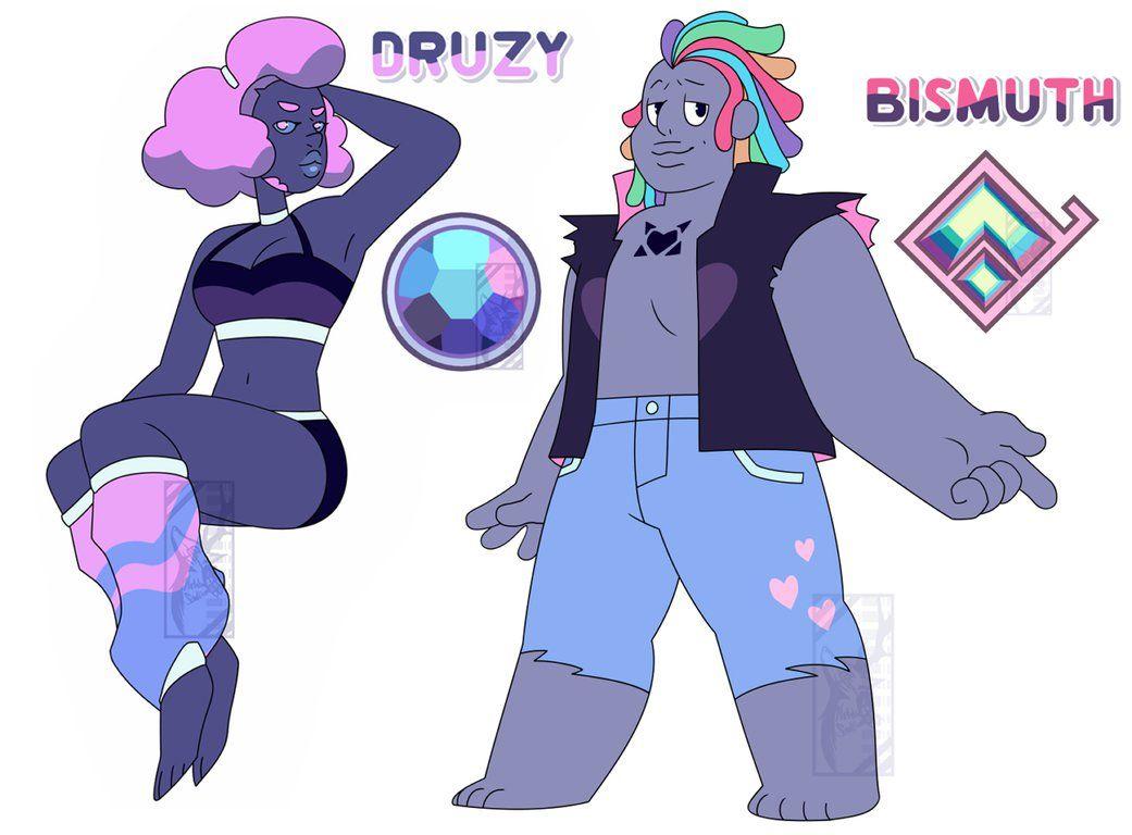 Druzy And Bismuth By Deer Head Steven Universe Pinterest