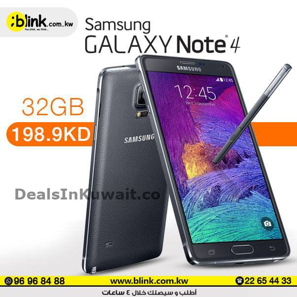 Blink: Special Offer on Samsung Galaxy Note 4 32GB – KD