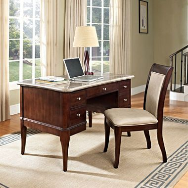 298 32 Marsdell Writing Desk Set With File Drawer Two Storage