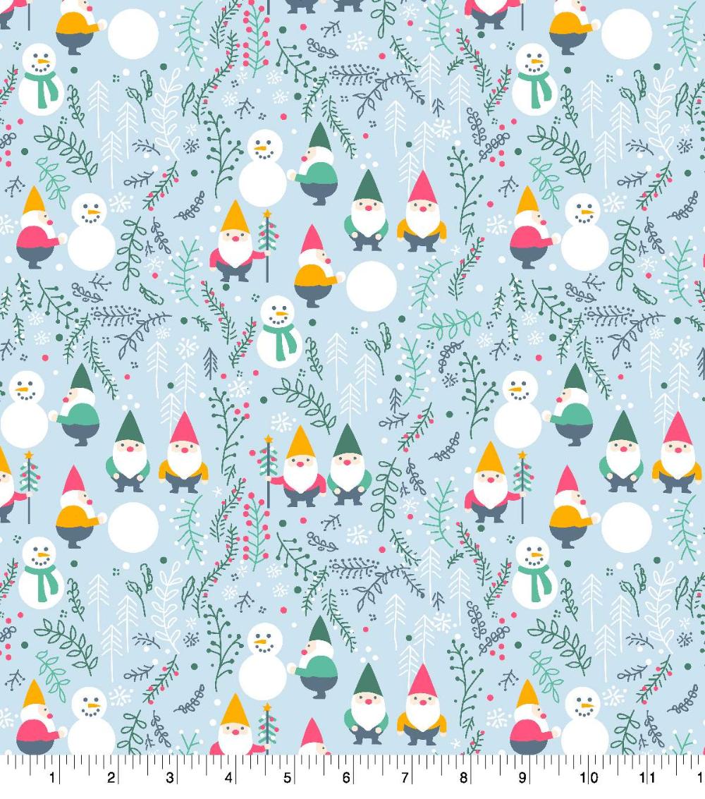 Super Snuggle Flannel Fabric Winter Gnomes Christmas