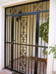 Iron Protective Bars For Windows Wrought Iron Security Doors Iron Front Door Grill Door Design