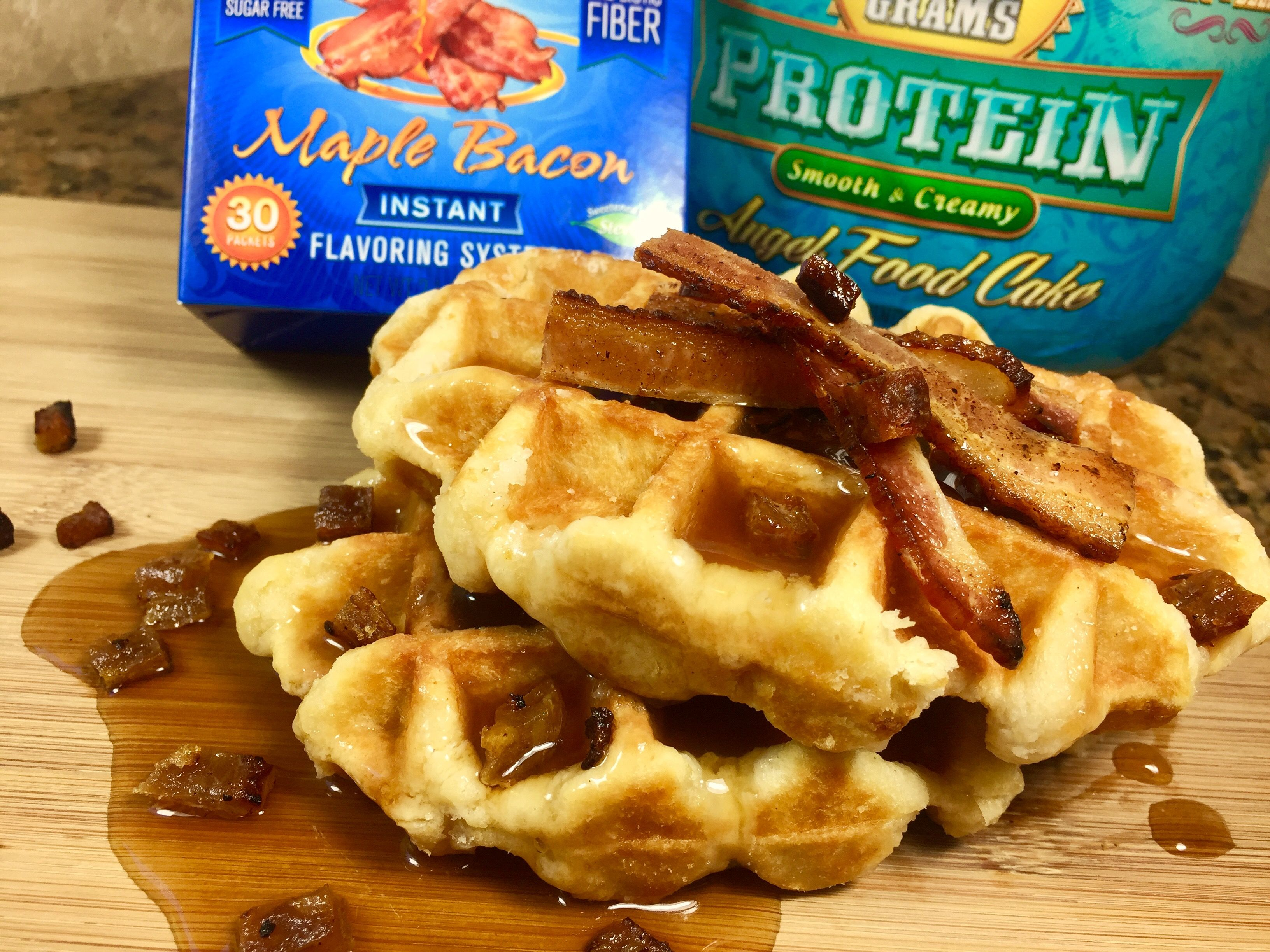 maple bacon protein waffles  bacon protein protein