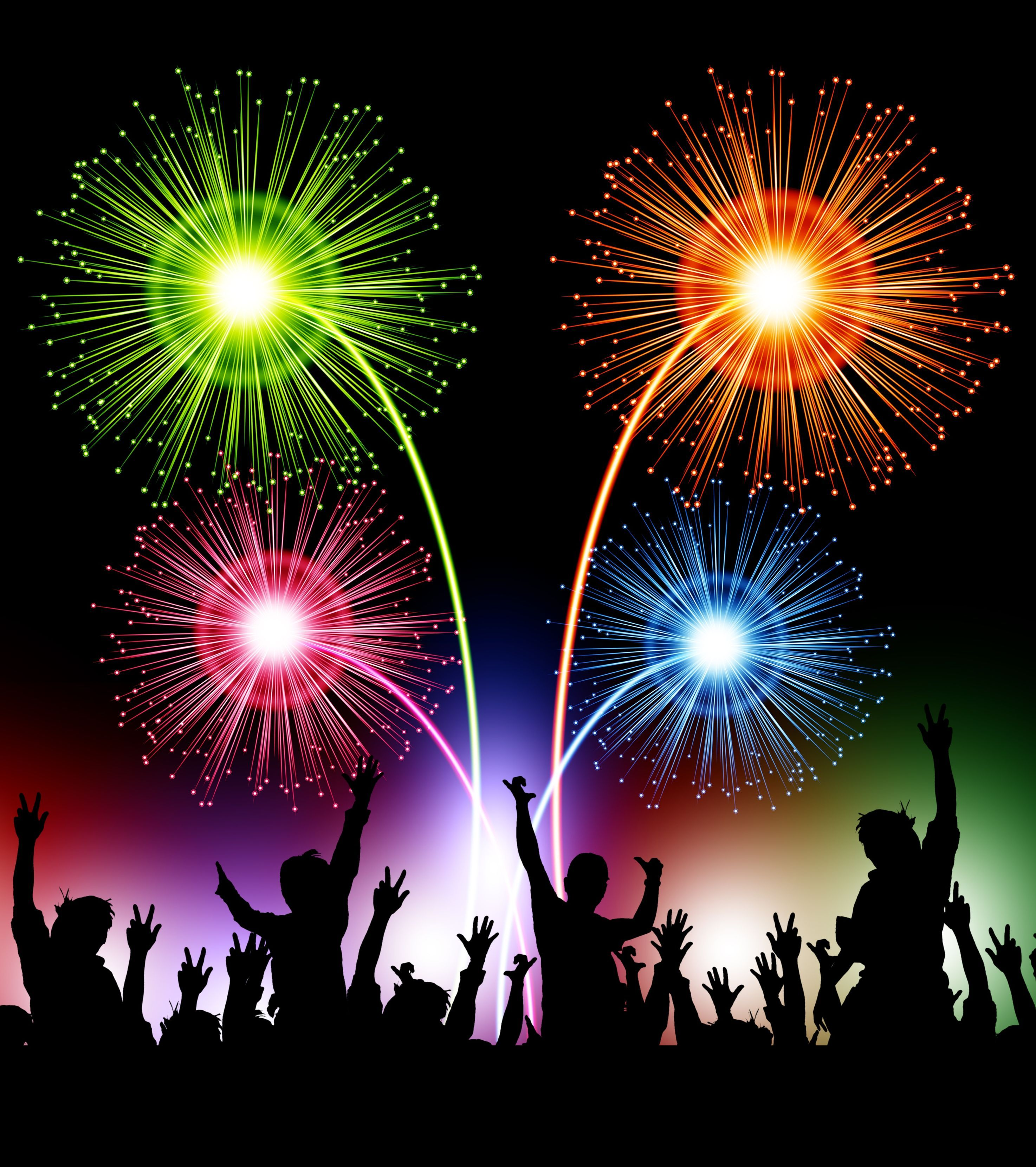 Animated Fireworks | ... : New year's Eve live wallpaper ...