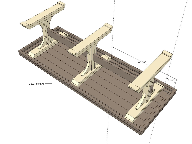Build A Triple Pedestal Farmhouse Table