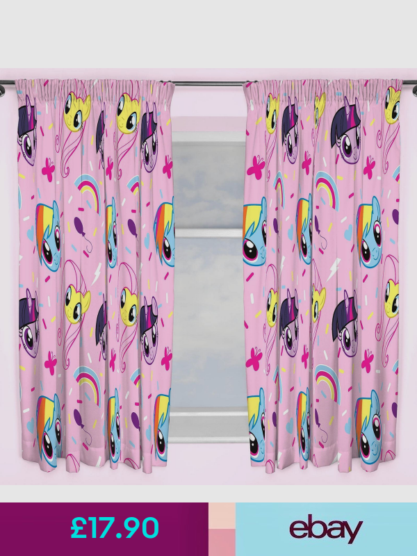 "My Little Pony Equestria Curtain Set 66/"" x 72/"" Childrens"