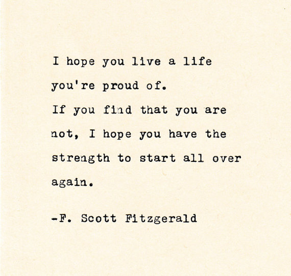 F Stock Quote Inspirational Quote The Fscott Fitzgerald Quote Made On  Quotes