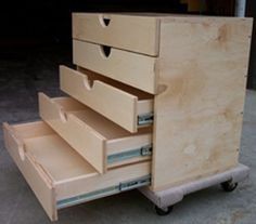 Diy Plywood Rolling Tool Case With Telescoping Handle And Drawers