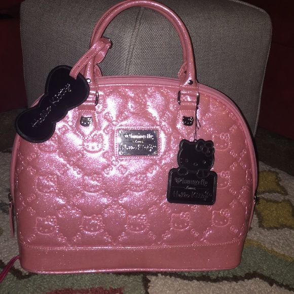 Hello Kitty Loungefly satchel.. Pink Hello KittyBag ... c94aff142a4a2
