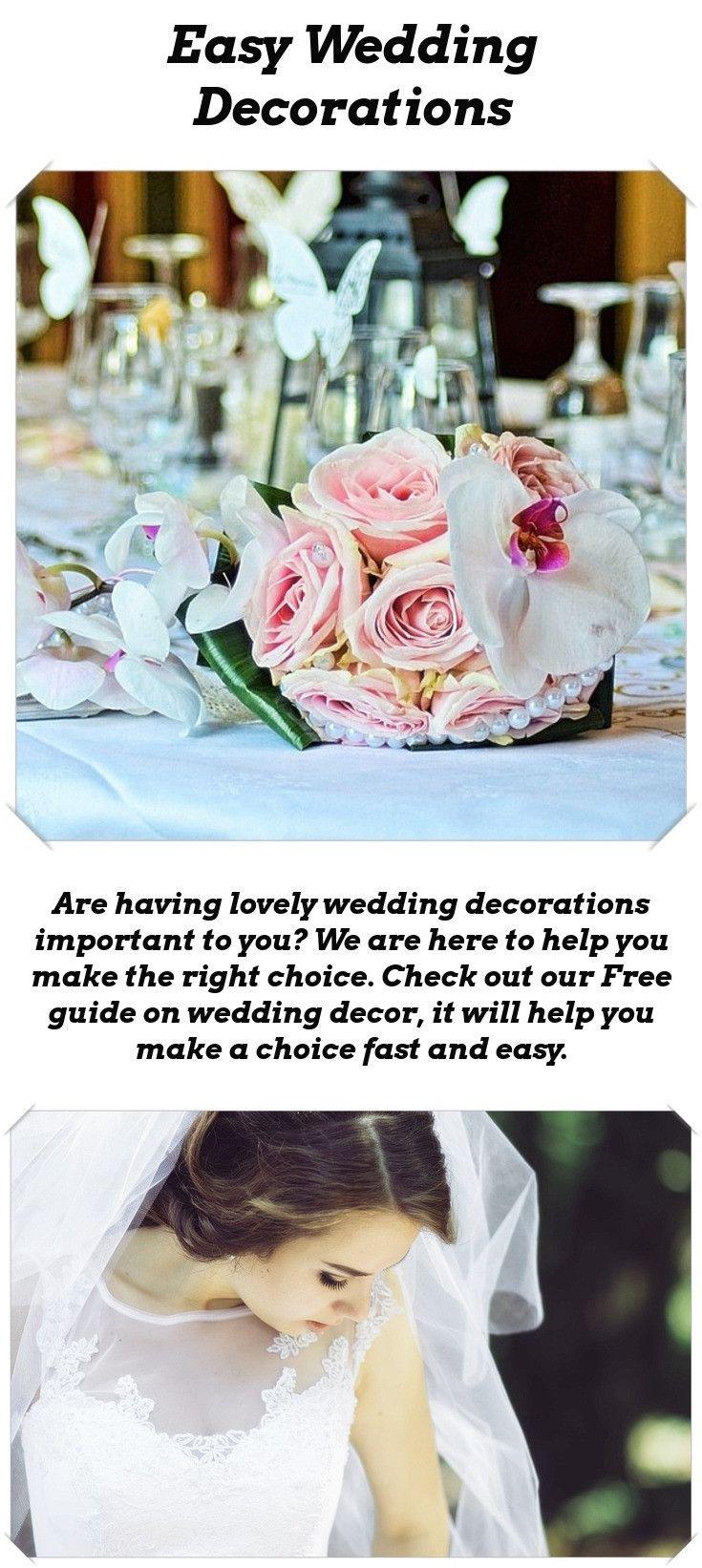 Wedding decorations to make  Wedding Decoration Ideas  Reception Weddings and Wedding