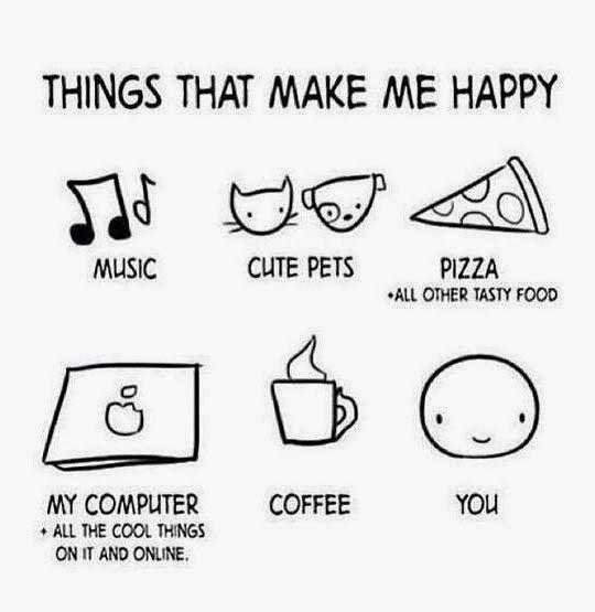 Things that make me happy.