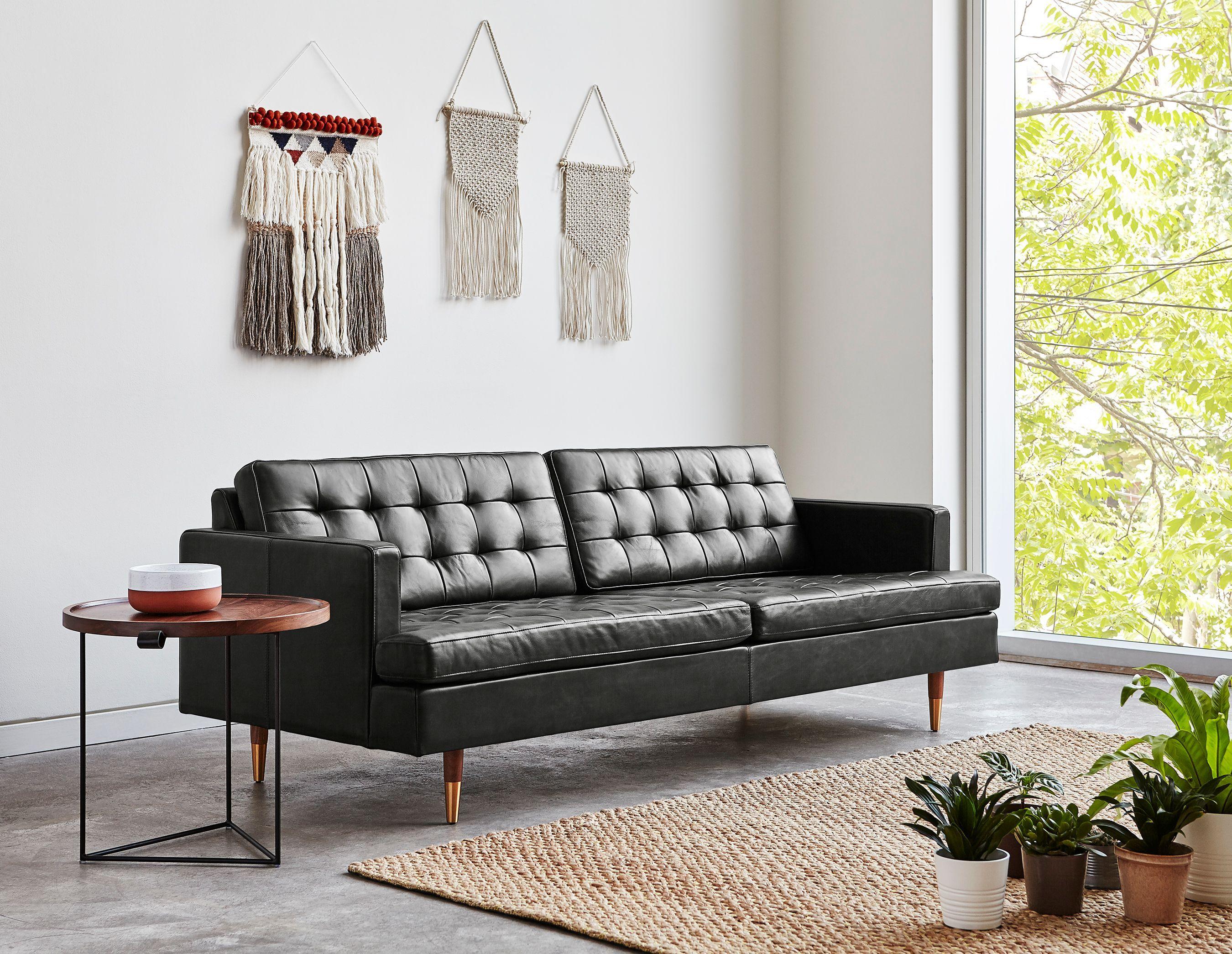 Archer Sofa Best Leather Sofa Tufted Leather Sofa Leather Sofa