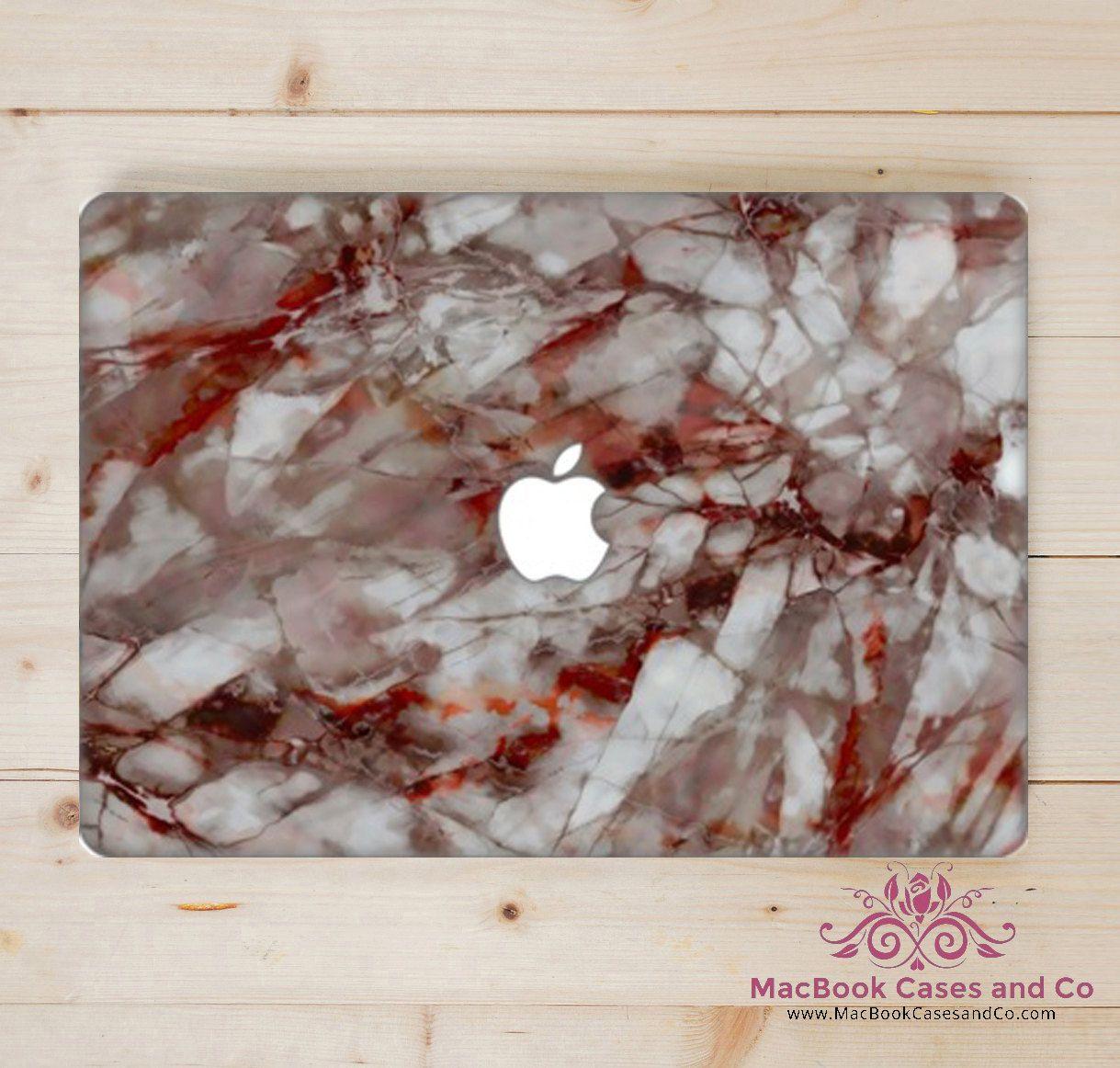 online retailer c0997 59867 Macbook Case. Marble Macbook case. Macbook Case. Red and white ...