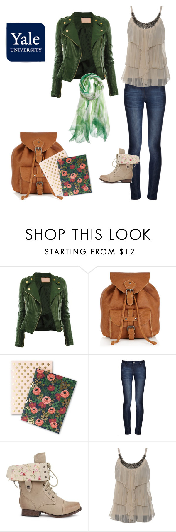 stylish for college by rory-leigh-gilmore on Polyvore featuring DL1961 Premium Denim, Jigsaw, Bajra and Rifle Paper Co