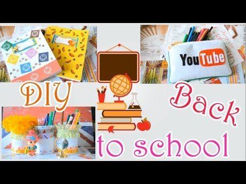 [DIY] Back to school / Яркие мелочи для учебных будней [Сделай сам] - YouTube