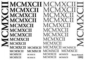 Roman Numeral Fonts Tattoos