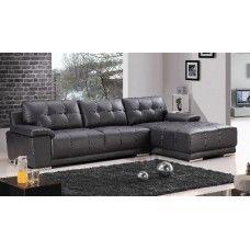 Geneva L Shaped Leather 3 Seater Sofa Lounge Couch Corner Chaise 1 499 Lounge Couch Lounge Sofa Couch