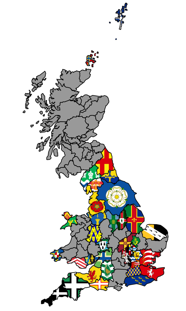 Uk County Flag Map 2 County Flags Yorkshire Flag London Map