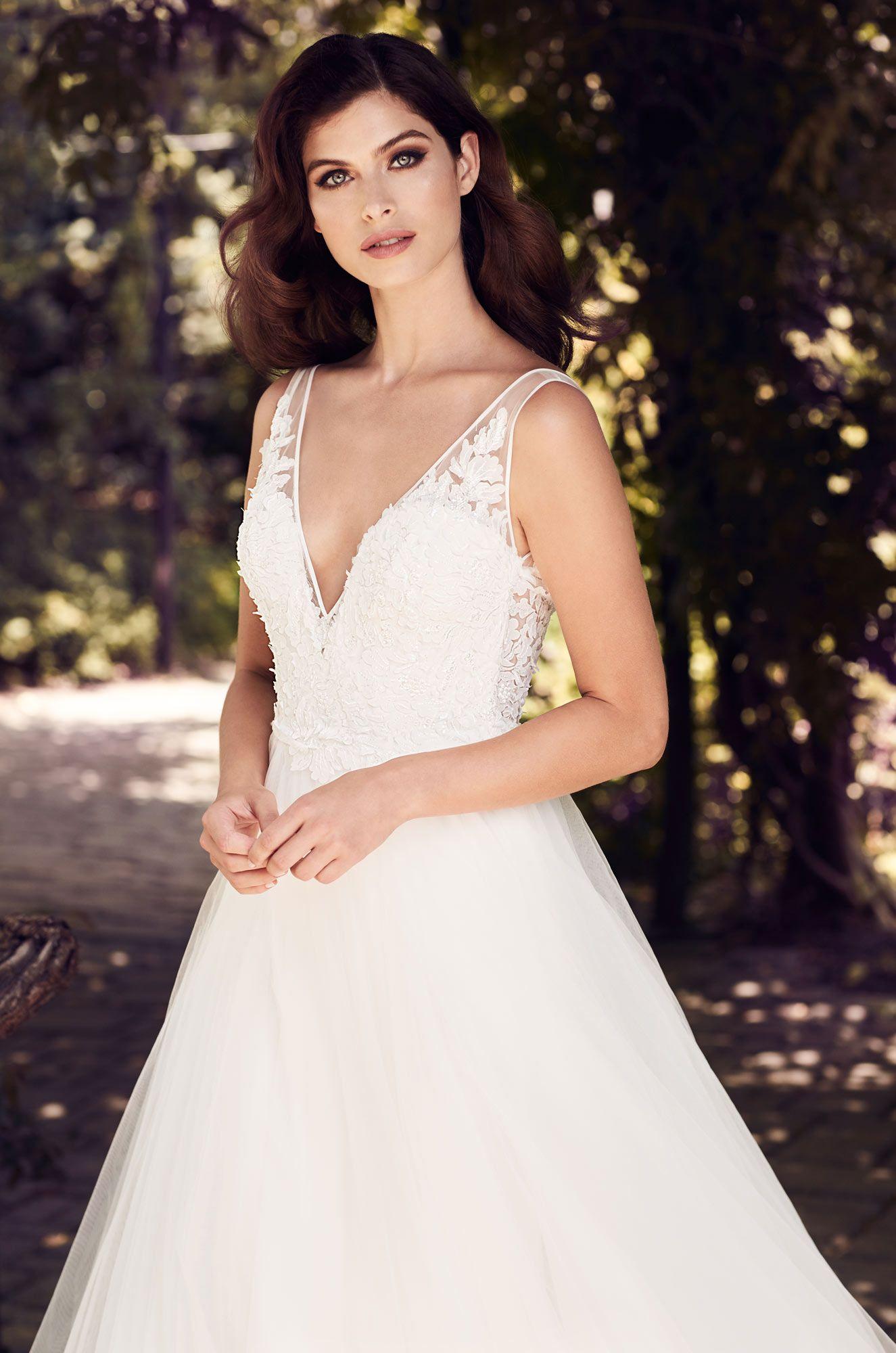 Aline tulle wedding dress style in wedding