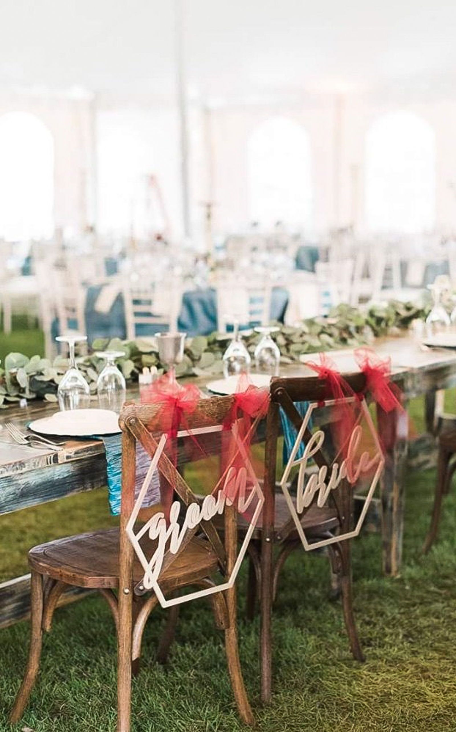 Tremendous Hexagon Wedding Chair Signs Geometric Style For Bride And Pdpeps Interior Chair Design Pdpepsorg