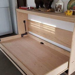 Twin Size Easy Diy Murphy Wall Bed Hardware Kit Horizontal