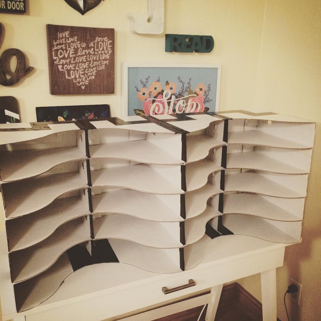 student mailboxes using IKEA Flyt magazine holders  And it only cost  8. student mailboxes using IKEA Flyt magazine holders  And it only