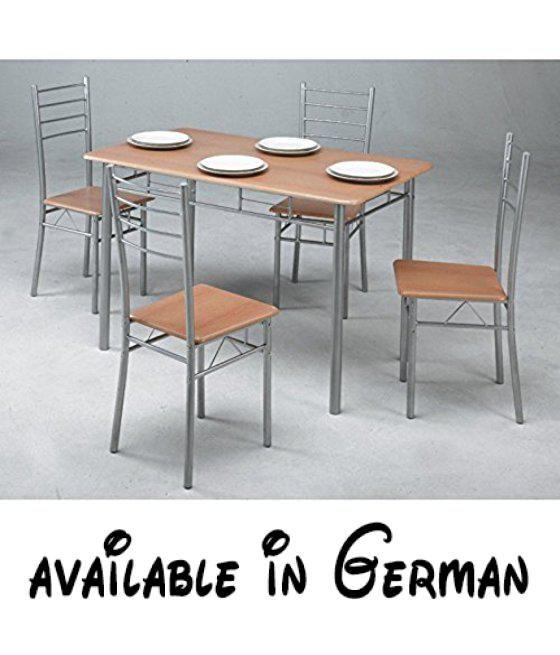 B00V4PFZDM : Kit Closet 701039001 - Set Küchentische 4 Stühle. MDF ...
