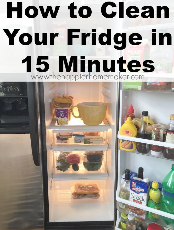 How To Clean Your Fridge In 15 Minutes Clean Fridge Clean