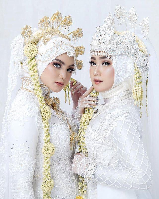 Jawa Vs Sundasuka Mana Makeup By Achietns Kerudung Pengantin Pengantin Wanita Pengantin