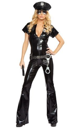 Female Police Officer Jumpsuit Costume Sexy