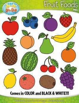 Fruit Foods Clipart {Zip-A-Dee-Doo-Dah Designs}