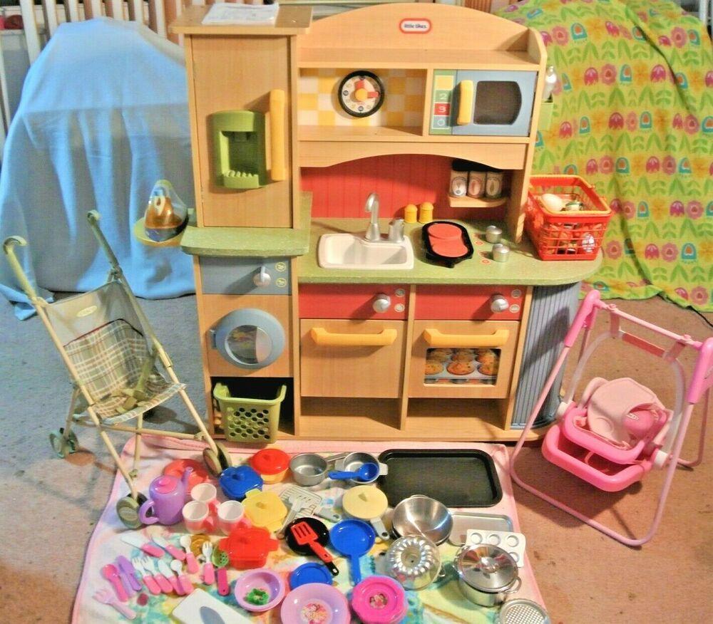 Little Tikes Delux Wooden Kitchen & Laundry Center