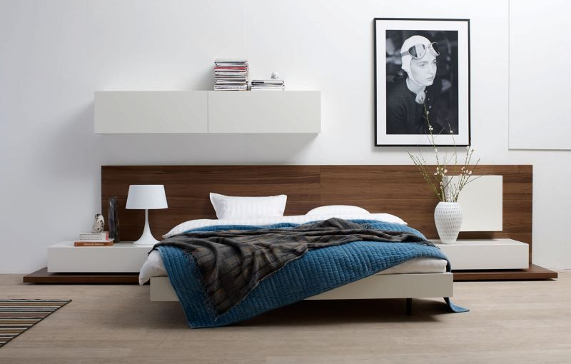 Very doable i like the starkness of the white the warmth for Very cheap bedroom furniture