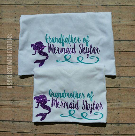 Grandmother of a Mermaid Family Birthday by RSSCustomCreations - baby shower nia
