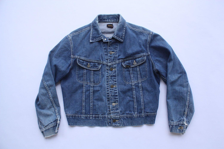 1950s Lee 101 J Denim Jacket Vintage Sanforized Lee Jean Jacket Sz L Xl Vintage Denim Jacket Lee Jeans Jackets [ 1000 x 1500 Pixel ]