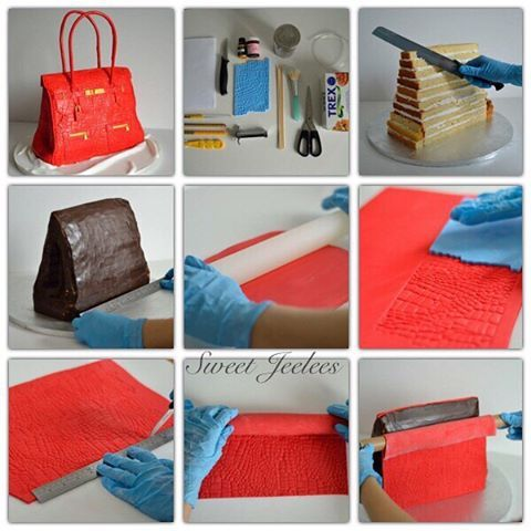 Quick pictorial: Handbag cake. I did this for cake masters a few years back. Hope it's helpful  #caketutorial #bagcake #handbagcake