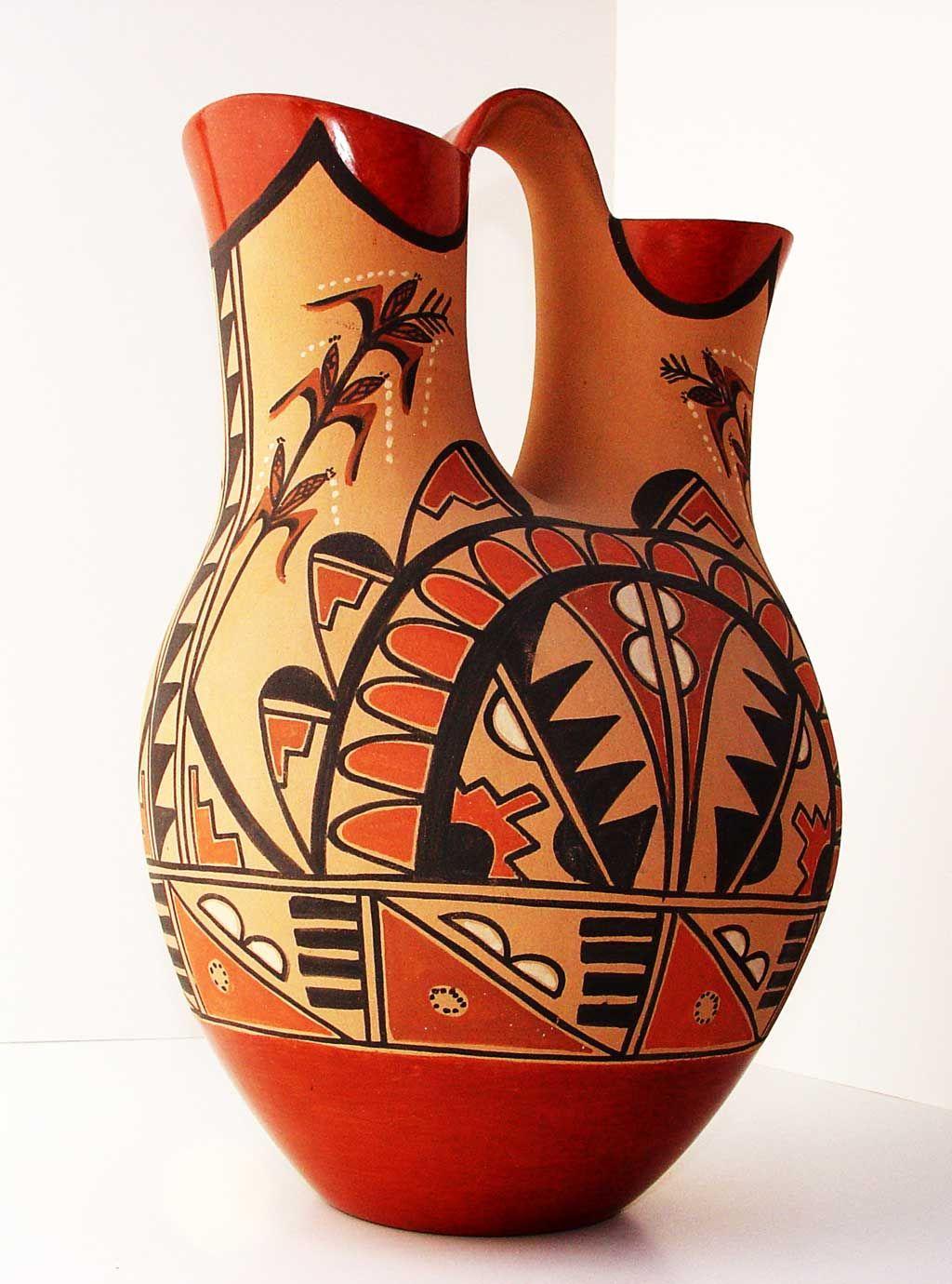 Vintage Wedding Vase, Jemez Artist Lenora Fragua Kilgore