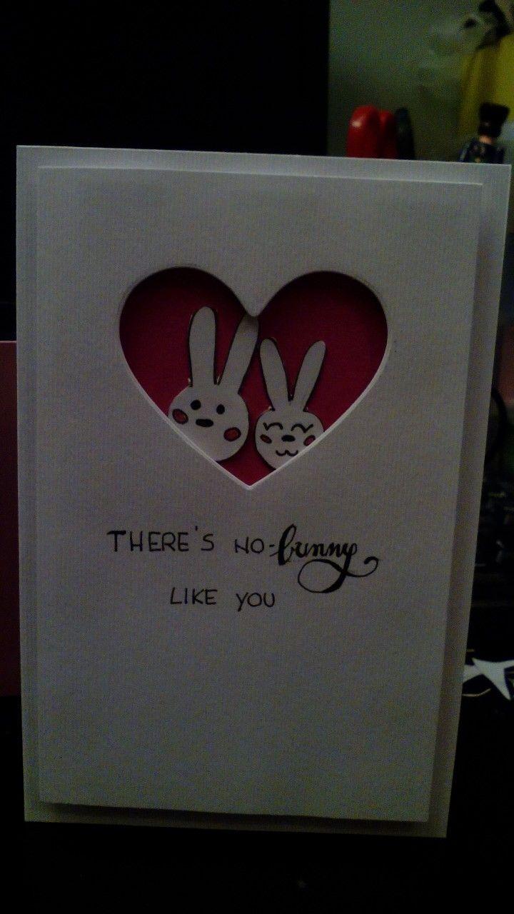 Love card bunnies