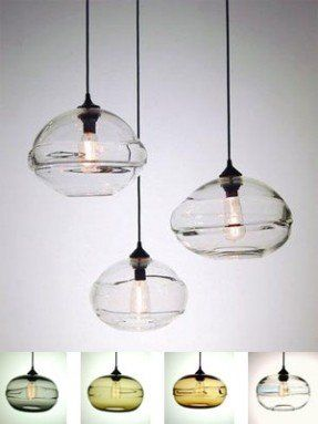Clear Band Pendant Lights Hand N Gl Pendants With Thick
