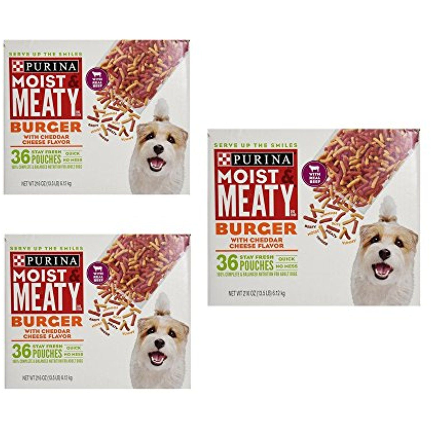 Purina Moist Meaty Dog Food Burger With Cheddar Cheese Flavor