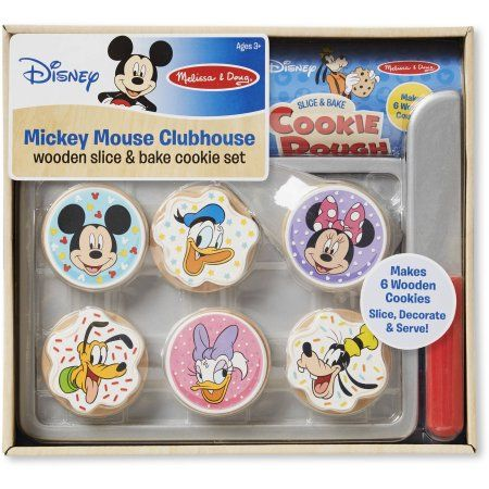 Mickey Mouse Clubhouse Wooden Slice and Bake Cookie Set