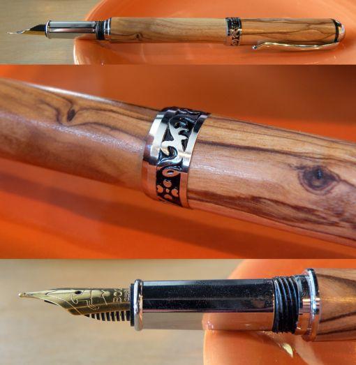 Zait Jerusalem Olive Wood Fountain Pen