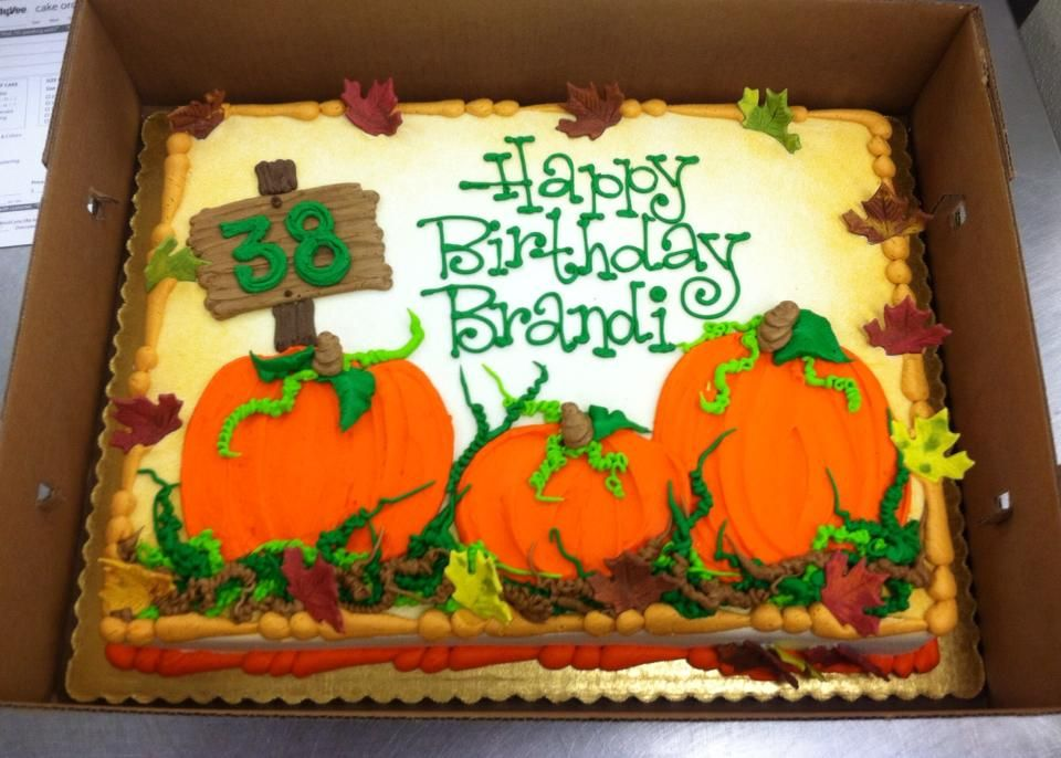 Pumpkin theme sheet cake by Stephanie Dillon LS1 HyVee Cakes