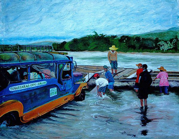 Cagayan River Art by Carol Mallilin Tsiatsios Tuguegarao