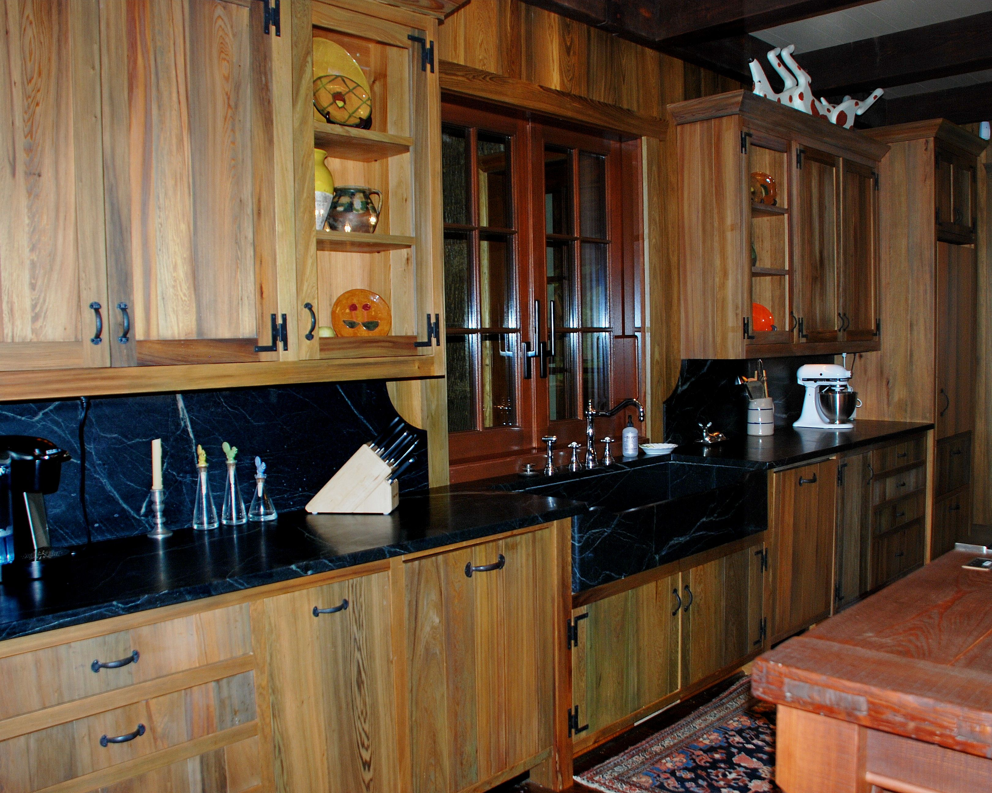 River Recovered Cypress Kitchen Cabinets Uppers Bases In Green Blue Brown Grey Tones By Vintage Lumber Sales Upper Kitchen Cabinets Kitchen Cabinets Kitchen