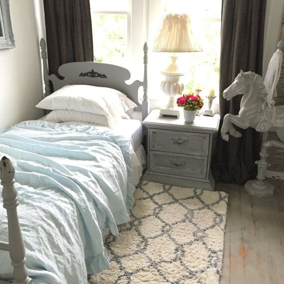 Twin Size Bed Frame, French Provincial, Shabby Cottage ...