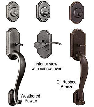 Weslock Molten Bronze Castletown Door Entry Handle Set