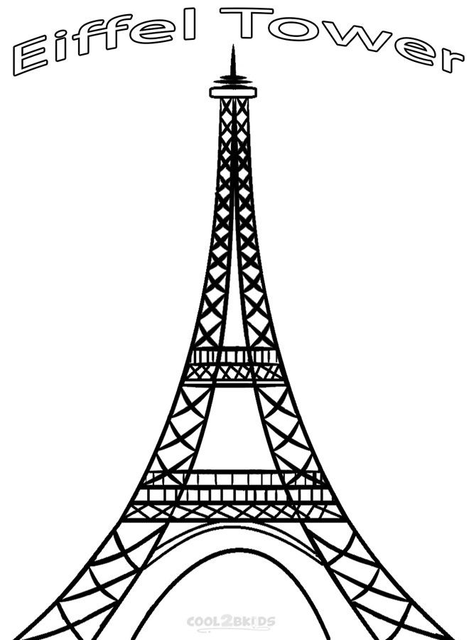 Eiffel Tower Coloring Pages Mandala Coloring Coloring Book Art